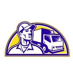 delivery man vector image vector image