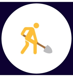 Digging man symbol vector