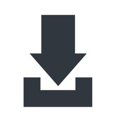 Download symbol with arrow design vector image vector image
