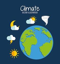 Earth planet climate design vector