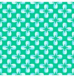 Flower blue tooth on the green seamless pattern vector