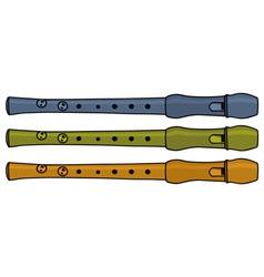 Flutes vector