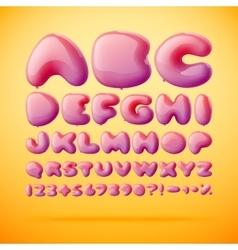 font made from balloons Alphabet vector image