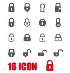 grey locks icon set vector image