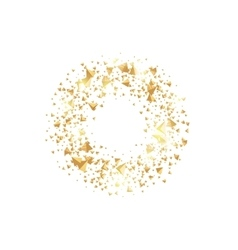 Isolated abstract golden circle logo round shiny vector