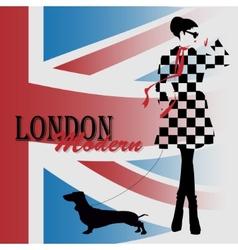 London vintage grunge poster vector image vector image
