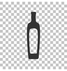 Olive oil bottle sign dark gray icon on vector