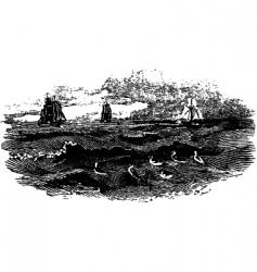 raging sea vector image vector image