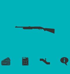 shotgun icon flat vector image vector image