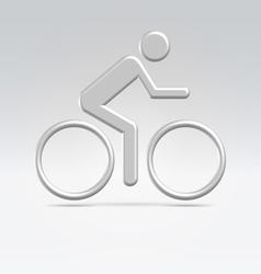 Silver cyclist icon vector image vector image