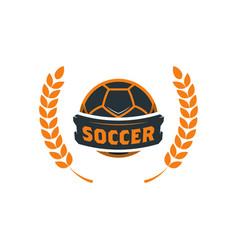 soccer football logo template modern sport ball vector image