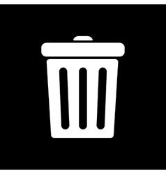 The trashcan icon dustbin symbol flat vector