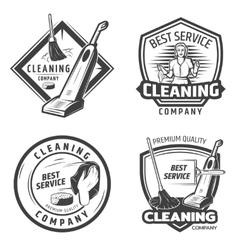 Vintage sanitation emblems vector