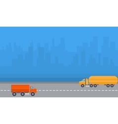 Delivery and road tanker vector
