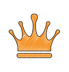 Crown royalty symbol vector