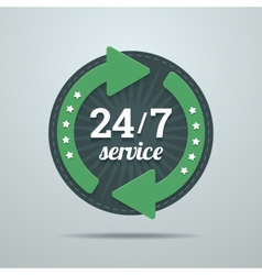 24 7 hours service sign in flat style vector image