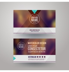 Business cards with blurred abstract background vector