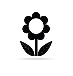 Flower black with leaf vector