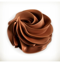 Chocolate whipped cream icon vector