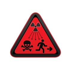 Hazard warning radiation symbol vector