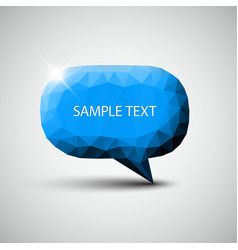abstract blue speech bubble vector image