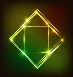 Abstract glowing background with squares vector