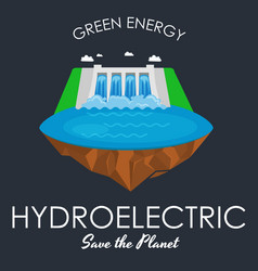 Alternative energy power industry hydroelectric vector