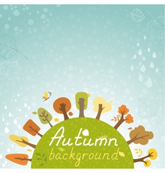 Autumnal square background vector image