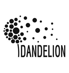 beautiful dandelion logo icon simple style vector image