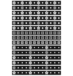 Black and white floral ornaments vector