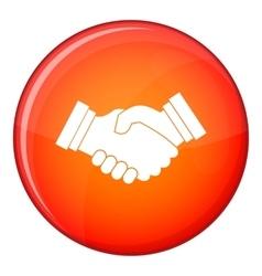 Business handshake icon flat style vector