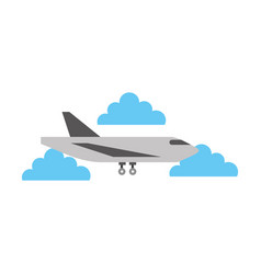 delivery cargo airplane logistic transport vector image