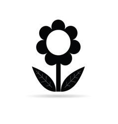 Flower black with leaf vector