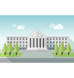 Front view of university or government building in vector image