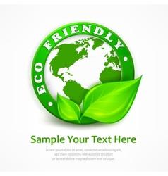 Green earth concept vector image vector image
