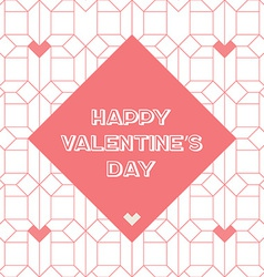 Happy Valentines day vintage card with abstract vector image vector image