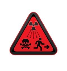 Hazard warning radiation symbol vector