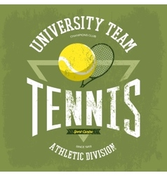 Rack with tennis ball for t-shirt logo vector image