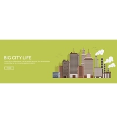Set of city silhouettes vector image