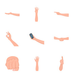 Significance of gestures monochrome icons in set vector