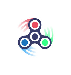 spinner icon simple style vector image