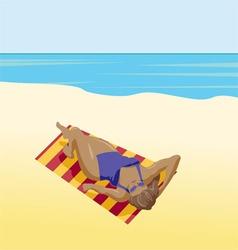 Sunbather Girl vector image vector image
