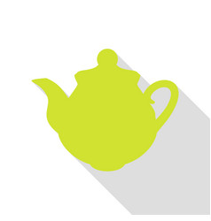 tea maker kitchen sign pear icon with flat style vector image vector image