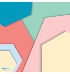 Varicolored polygonal design vector image