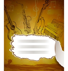 Vintage musical notebook vector