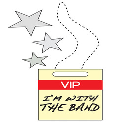 Vip with the band vector