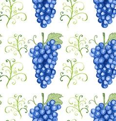 Watercolor grape in vintage style vector image vector image