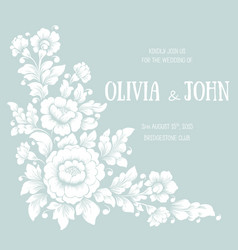 Wedding invitation and announcement card with vector
