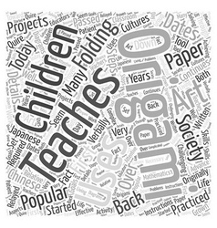 Who uses origami in society today word cloud vector