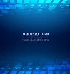 Square shapes perspective blue background vector